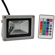 Hkv® 1pcs 10w 900-1000 lm rgb vanntett festoon led floodlight integrere ledet ac85-265 v