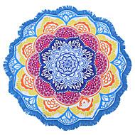 인도의 만다라 해변 수건 대형 연꽃 인쇄 수건 해변 원형 타월 수영장 타올 담요 150cm