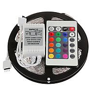 유연한 LED 조명 스트립 조명 세트 RGB 스트립 조명 lm DC12 V 5 m LED가 RGB