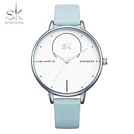 SK Damen Armband-Uhr Japanisch Quartz Wasserdicht Schockresistent PU Band Bettelarmband Bequem Luxuriös Weiß Blau Grau Rosa
