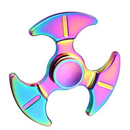 Hand Spinner Fidget Toy Rainbow Colorful Tri-Spinner Finger Toy For Autism and ADHD Anxiety Stress Relief Focus Gift ---1 PCS