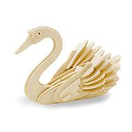 Puzzle Zabawki 3D Cegiełki DIY Zabawki Łabędź Drewno Model / klocki