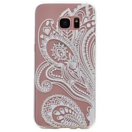 For Samsung Galaxy S6 S4 Case Cover Transparent Pattern Back Cover Case Flower Soft TPU