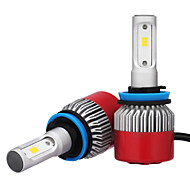 2 kpl h8 h9 H11 7200LM csp LED ajovalojen 72 paino johti auton ajovalojen lamppu sumuvalo 6500 k 12 v
