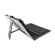 Til Etuier Med stativ Med keyboard Flip Mønster Heldækkende Etui Dødningehoveder Blomst Hårdt Kunstlæder for AppleiPad Mini 4 iPad Mini
