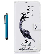 For Case Cover Pattern Full Body Case With Stylus Feathers Hard PU Leather for Apple ipod Touch 5 Touch 6