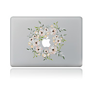 1 stk Ridsnings-Sikker Blomster Transparent plastik Klistermærke Mønster ForMacBook Pro 15'' with Retina MacBook Pro 15 '' MacBook Pro