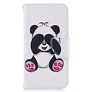 Käyttötarkoitus kotelot kuoret Lomapkko Korttikotelo Tuella Flip Kuvio Magneetti Kokonaan peittävä Etui Panda Kova PU-nahka varten Samsung