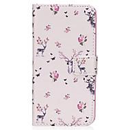 Til Samsung Galaxy S8 S8 Plus Case Cover Sika hjorte mønster pu materiale kort sten twalget telefon sag s7 s6 s5 s7edge s6edge