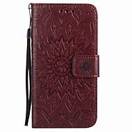 Til huawei p9 lite p9 case cover kortholder lommebog med stativ flip magnetisk præget fuld krop tilfælde blomst hård pu læder p8lite y5ii