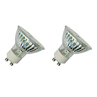 3W LED-spotlampen MR16 60 SMD 3528 280-320 lm Warm wit Wit V 2 stuks