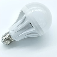 1kpl 7w e27 liiketunnistinlamppu 500-600lm 30smd 2835 viileä valkoinen älykäs äänenvalonohjaus led-lamput ac220-240v