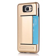 Kompatibilitás tokok Kártyatartó Ütésálló Hátlap Case Tömör szín Kemény PC mert Samsung J7 (2016) J7 Prime J5 (2016) J5 Prime J2 Prime