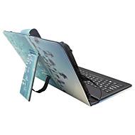 Voor Hoesje cover met standaard met toetsenbord Flip Patroon Volledige behuizing hoesje Woord / tekst Landschap Hard PU-leer voorApple
