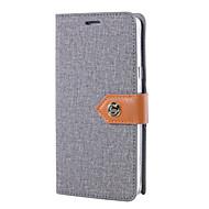 Til Samsung Galaxy S7 edge s7 cover dækker lærredet klud mønster pu læder tasker