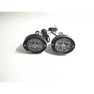 Elektrikli otomobil spotları motosiklet süper parlak ledli farlar dikiz aynası 12v24v modifiye dış ampul çifti