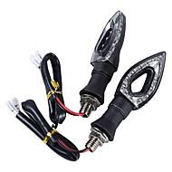 Ziqiao 4pcs yanıp sönen motosiklet açtı sinyal lambası far 12 led ışık göstergesi eşkenar dörtgen içi boş kehribar flaşör lamba