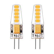 2W LED Bi-pin 조명 T 10 SMD 2835 250 lm 따뜻한 화이트 화이트 V 2개