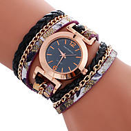 Damskie Ladies ' Sportowy Modny Zegarek na bransoletce Unikalne Kreatywne Watch Na codzień Kwarcowy Skóra PasmoZ Wisorkami Nowoczesne Na