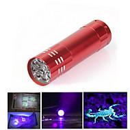 LED Lommelygter Ultraviolette lommelygter LED 300 Lumen 1 Tilstand LED AAA Nedslags Resistent Glidesikkert Greb LED Lys Let at bære