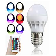 3W Okos LED izzók A50 1 Integrált LED 100 lm RGB Távvezérlésű Dekoratív V 1 db.