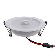 5W LED-älyvalot Upotettu jälkiasennus 10 SMD 5630 450 lm Lämmin valkoinen Kylmä valkoinenInfrapunasensori Ihmisen kehon anturi
