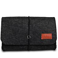 Bolsa para Adaptador de corriente Memoria USB Ratón Auriculares Color sólido Textil Material