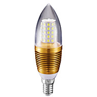 10W LED gyertyaizzók C35 60 SMD 2835 700 lm Hideg fehér AC 85-265 V 1 db.
