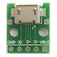 Mikro-USB-Stick (2,54 mm) weiblichen B-Typ Mikrofon Chip-Adapter-Board