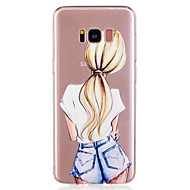 Samsung Galaxy s8 plusz s8 telefon esetében TPU anyag lány minta festett telefon esetében s7 szélén s7 s6 él s6