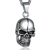 Nyaklánc medálok Titanium Acél Skull shape Divat Ezüst Ékszerek Hétköznapi Karácsonyi ajándékok