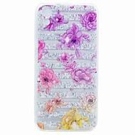 Htc desire 626 kotelon suojus läpinäkyvä kuvio takakansi kotelo kukka pehmeä tpu kotelo
