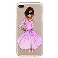 Para la caja del teléfono del iphone 7plus 7 caso pintado material del teléfono de la muchacha del tpu 6s más 6plus 6s 6 se 5s 5