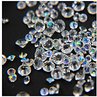 200pcs/box Pointed Crystal AB Rhinestone Mixd Clear Nail Rhinestones Mix Nail Art Decoration Accessory