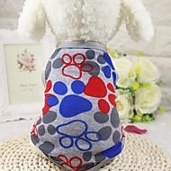 강아지 티셔츠 조끼 강아지 의류 캐쥬얼/데일리 패션 기하 그레이 블루