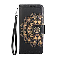 Taske til lg k8 2017 k10 2017 case cover kortholder pung flip præget mønster fuld krop telefon taske mandala blomst hard pu læder til lg