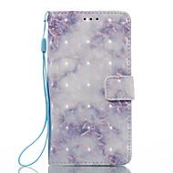 Til lg k8 (2017) k10 (2017) case cover blå mønster 3d malet kort stent tegnebog taske til lg k7 k8