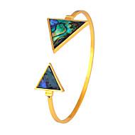 Damskie Bransoletki cuff Biżuteria Przyjaźń Modny Film Biżuteria Hipoalergiczny Pozłacane Stal nierdzewna Stop Triangle Shape Biżuteria Na