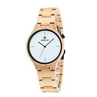 男性用 腕時計 ウッド 日本産 クォーツ 木製 ウッド バンド エレガント腕時計 ラグジュアリー ブラウン アイボリー