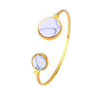 Damskie Bransoletki cuff Biżuteria Modny Film Biżuteria Hipoalergiczny Pozłacane Stal nierdzewna Stop Circle Shape Biżuteria NaParty /