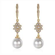 Women's Drop Earrings Dangling Style Movie Jewelry Euramerican Fashion Vintage Personalized Adorable Simple Style BritishPearl Zircon