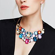 Dame Erklæring Halskæder store halskæder Krystal Smykker Rhinsten Simuleret diamant 18K guld Østrigsk krystal Mode Europæisk