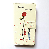 Case For Samsung Galaxy S6 Case Cover Card Holder Wallet with Stand Flip Pattern Full Body Case Flower Hard PU Leather