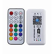 21 avain langaton rf wifi -ohjain älypuhelimen sovellusohjaus ios- tai android-järjestelmällä (rgb)