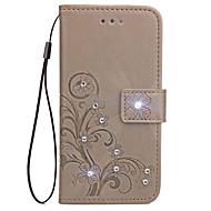 Taske til xiaomi redmi 4a 4x kortholder tegnebog rhinestone med stativ flip præget fuld krops sag blomst hårdt pu læder til redmi 2 3s 4 4