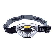 Fejlámpák LED 500 Lumen 3 Mód LED AAA Könnyű Kempingezés/Túrázás/Barlangászat Mindennapokra Kerékpározás Vadászat Halászat