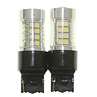 Sencart 2adet 7440 w21w w3x16d ampul led araba kuyruk dönüşü ters ampul lambaları (beyaz / kırmızı / mavi / sıcak beyaz) (dc / ac9-32v)