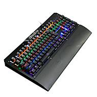 Ruyiniao metal gaming baggrundsbelyst mekanisk tastatur 104 nøgler blå skifter usb kabel