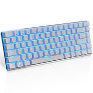 Ajazz ak33 klawiatura do gier, 82 klucze klasyczne, przeźroczysty niebieski przełącznik