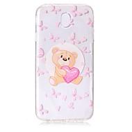 Case voor Samsung Galaxy J7 (2017) j5 (2017) telefoon hoesje tpu materiaal beer patroon beschilderde telefoon hoesje j3 (2017) j710 j510